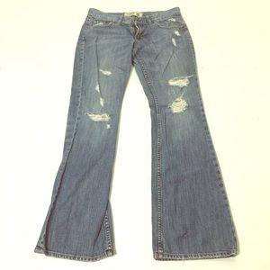 PINK Victoria's Secret Jeans - VS Pink Size 6 Short Destructed Bootcut Jeans